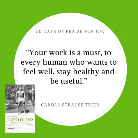 Carola Strauss Trier_50 Days of Praise for Joe